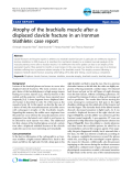 """Báo cáo y học: """"Atrophy of the brachialis muscle after a displaced clavicle fracture in an Ironman triathlete: case report"""""""