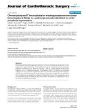"""Báo cáo y học: """"Omentoplasty and Thoracoplasty for treating postpneumonectomy bronchopleural fistula in a patient previously submitted to aortic prosthesis implantation"""""""