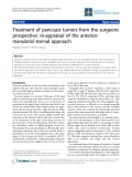 "Báo cáo y học: ""Treatment of pancoast tumors from the surgeons prospective: re-appraisal of the anteriormanubrial sternal approach"""