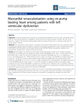 "Báo cáo y học: ""Myocardial revascularization using on-pump beating heart among patients with left ventricular dysfunction"""