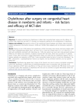 """Báo cáo y học: """" Chylothorax after surgery on congenital heart disease in newborns and infants – risk factors and efficacy of MCT-diet"""""""