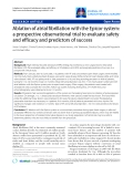 "Báo cáo y học: ""Ablation of atrial fibrillation with the Epicor system: a prospective observational trial to evaluate safety and efficacy and predictors of success"""