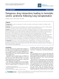 "Báo cáo y học: ""Dangerous drug interactions leading to hemolytic uremic syndrome following lung transplantation"""