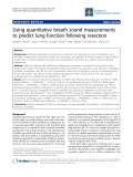 """Báo cáo y học: """"Using quantitative breath sound measurements to predict lung function following resection"""""""