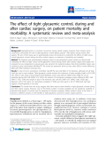 "Báo cáo y học: ""The effect of tight glycaemic control, during and after cardiac surgery, on patient mortality and morbidity: A systematic review and meta-analysis"""