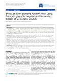 "Báo cáo y học: ""Effects on heart pumping function when using foam and gauze for negative pressure wound therapy of sternotomy wounds"""