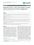 """báo cáo khoa học: """" Expression of Ets-1, Ang-2 and maspin in ovarian cancer and their role in tumor angiogenesis"""""""