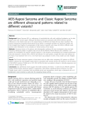 """báo cáo khoa học: """" AIDS-Kaposi Sarcoma and Classic Kaposi Sarcoma: are different ultrasound patterns related to different variants?"""""""