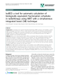 "báo cáo khoa học: ""IsoBED: a tool for automatic calculation of biologically equivalent fractionation schedules in radiotherapy using IMRT with a simultaneous integrated boost (SIB) technique"""