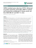 """báo cáo khoa học: """"ShRNA-mediated gene silencing of MTA1 influenced on protein expression of ER alpha, MMP-9, CyclinD1 and invasiveness, proliferation in breast cancer cell lines MDA-MB-231 and MCF-7 in vitro"""""""