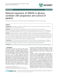 "báo cáo khoa học: ""Reduced expression of SMAD4 in gliomas correlates with progression and survival of patients"""