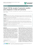 """báo cáo khoa học: """"Absent Toll-like receptor-9 expression predicts poor prognosis in renal cell carcinoma"""""""