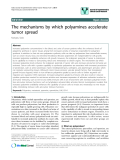 """báo cáo khoa học: """"The mechanisms by which polyamines accelerate tumor spread"""""""