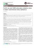 "Báo cáo y học: ""Pu-Erh tea and GABA attenuates oxidative stress in kainic acid-induced status epilepticu"""