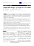 """báo cáo khoa học: """"Interventions aimed at improving the nursing work environment: a systematic review"""""""