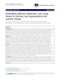 "báo cáo khoa học: ""Embedding effective depression care: using theory for primary care organisational and systems change"""