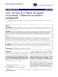 """báo cáo khoa học: """" Short- and long-term effects of a quality improvement collaborative on diabetes management"""""""