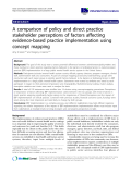 "báo cáo khoa học: ""A comparison of policy and direct practice stakeholder perceptions of factors affecting evidence-based practice implementation using concept mapping"""