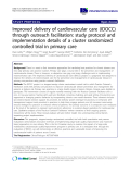 """báo cáo khoa học: """"Improved delivery of cardiovascular care (IDOCC) through outreach facilitation: study protocol and implementation details of a cluster randomized controlled trial in primary care"""""""