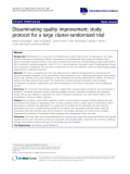 """báo cáo khoa học: """"Disseminating quality improvement: study protocol for a large cluster-randomized trial"""""""