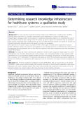 "báo cáo khoa học: "" Determining research knowledge infrastructure for healthcare systems: a qualitative study"""