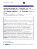 "báo cáo khoa học: ""Instrument development, data collection, and characteristics of practices, staff, and measures in the Improving Quality of Care in Diabetes (iQuaD) Study"""