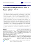 "báo cáo khoa học: ""An evidence-based health workforce model for primary and community care"""