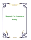 Chapter1-The Investment Setting