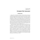 Introduction to ENVIRONMENTAL TOXICOLOGY Impacts of Chemicals Upon Ecological Systems - CHAPTER 11