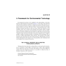 Introduction to ENVIRONMENTAL TOXICOLOGY Impacts of Chemicals Upon Ecological Systems - CHAPTER 2