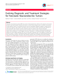 """Báo cáo y học: """" Evolving Diagnostic and Treatment Strategies for Pancreatic Neuroendocrine Tumors"""""""