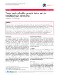 "Báo cáo y học: ""Targeting insulin-like growth factor axis in hepatocellular carcinoma"""