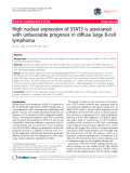 """Báo cáo y học: """"High nuclear expression of STAT3 is associated with unfavorable prognosis in diffuse large B-cell lymphoma"""""""