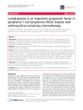 """Báo cáo y học: """"Lymphopenia is an important prognostic factor in peripheral T-cell lymphoma (NOS) treated with anthracycline-containing chemotherapy"""""""