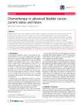 "Báo cáo y học: ""Chemotherapy in advanced bladder cancer: current status and future"""