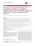 "Báo cáo y học: ""The impact of therapy for childhood acute lymphoblastic leukaemia on intelligence quotients; results of the risk-stratified randomized central nervous system treatment trial MRC UKALL XI"""