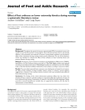 "Báo cáo y học: "" Effect of foot orthoses on lower extremity kinetics during running: a systematic literature revie"""