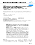 "Báo cáo y học: "" A questionnaire for determining prevalence of diabetes related foot disease (Q-DFD): construction and validation"""