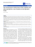 """Báo cáo y học: """"The instantaneous helical axis of the subtalar and talocrural joints: a non-invasive in vivo dynamic study"""""""