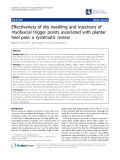 "Báo cáo y học: ""Effectiveness of dry needling and injections of myofascial trigger points associated with plantar heel pain: a systematic review"""