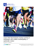 """Báo cáo y học: """"Lower limb biomechanics during running in individuals with achilles tendinopathy: a systematic review"""""""