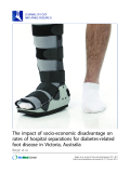 "Báo cáo y học: ""The impact of socio-economic disadvantage on rates of hospital separations for diabetes-related foot disease in Victoria, Australia"""
