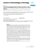 "báo cáo khoa học: ""Thrombotic thrombocytopenic purpura-hemolytic uremic syndrome (TTP-HUS): a 24-year clinical experience with 178 patients"""