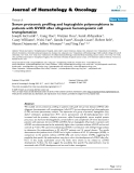 "báo cáo khoa học: ""Serum proteomic profiling and haptoglobin polymorphisms in patients with GVHD after allogeneic hematopoietic cell transplantation"""
