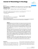 """báo cáo khoa học: """"Dysregulation of CXCL9 and reduced tumor growth in Egr-1 deficient mice"""""""