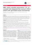 "báo cáo khoa học: ""RRM1 single nucleotide polymorphism -37C®A correlates with progression-free survival in NSCLC patients after gemcitabine-based chemotherapy"""