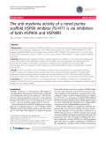 """báo cáo khoa học: """"The anti-myeloma activity of a novel purine scaffold HSP90 inhibitor PU-H71 is via inhibition of both HSP90A and HSP90B1"""""""