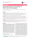 """báo cáo khoa học: """"Differential Expression of MicroRNAs in CD34+ Cells of 5q- Syndrome"""""""