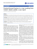 """Báo cáo y học: """"Proximal femoral fracture in a man resulting from modern clipless pedals: a case report"""""""