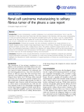 "Báo cáo y học: "" Renal cell carcinoma metastasizing to solitary fibrous tumor of the pleura: a case report"""